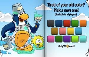 Club Penguin Colors