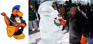 Carnaval de Quebec Ice Sculpture - the Rocker