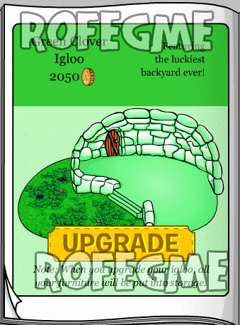 Club Penguin Igloo Upgrades Catalog March-April 2010 Cheats Green Clover Igloo