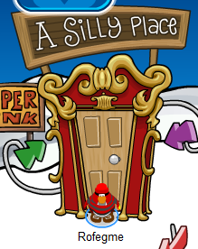 A Silly Place -- A member's only room during Club Penguin's April Fool's Party