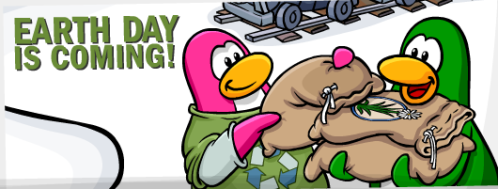 Club Penguin Earth Day Celebaration Party