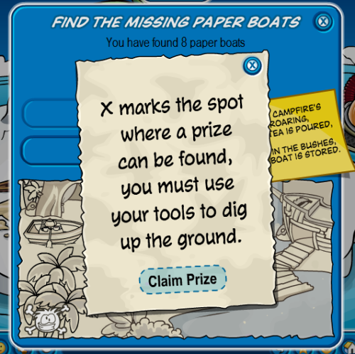 Club Penguin Adventure Party June 2010 Scavenger Hunt