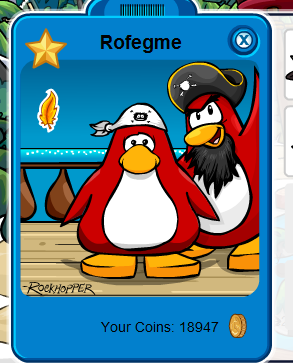 Club Penguin Adventure Party June 2010 Pirate Bandanna